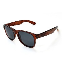 DANG SHADES ダンシェイディーズ サングラス 偏光レンズ LOCO CLEAR BROWN with BLACK GEOMETRIC pattern x Black Polarized...