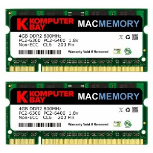 Komputerbay MACMEMORY Apple 8GB (2x 4GB) PC2-6300 800MHz DDR2 SODIMM iMac と Macbook メモリ