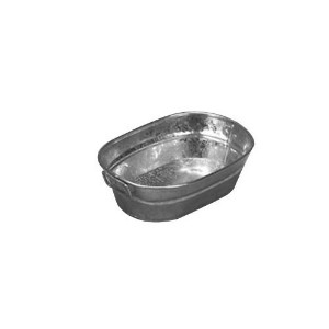 American Metalcraft MTUB69 Natural Galvanized Tub with Side Handle, 9-Inch [並行輸入品]