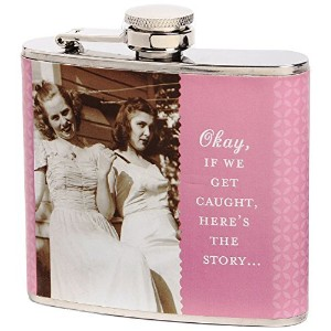 Shannon Martin Girl Designer Flask, Get Caught, Pink [並行輸入品]