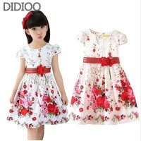 Kids dresses for girls clothing summer style floral print girl princess party dress baby kids