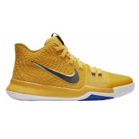 "Nike Kyrie 3 ""Mac and Cheese"" キッズ/レディース Uni Gold/Chrome/White/Game Royal ナイキ カイリー3 Kyrie Irving..."