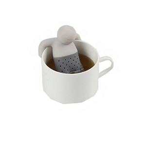 The Tea Strainer that makes you smile / Lazy Manティーインフューザー、かわいいfor Loose Tea