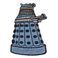 DOCTOR WHO Blue DALEK 3 Tall Embroidered PATCH by Main Street 24/7