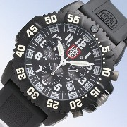 LUMINOX/ルミノックス3081 ブラック+ホワイト(ラバーベルト) SWISS QUARTZ/Navy SEALs DIVE WATCH COLORMARK CHRONOGRAPH SERIES T25...