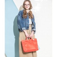 PLAIN TOTE BAG(THE CLOUDS)【ラシット/russet トートバッグ】