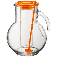 Bormioli Rocco Kufra Glass Jug with Iceコンテナと蓋、72 3 / 4オンス オレンジ 135729MA1321990