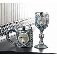 Medieval Timber Wolf Wine Goblet