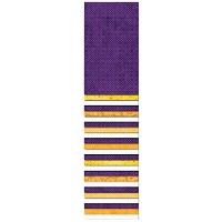 Wilmington Prints 2-1/2in Strips Number 1 Fan Purple/Gold/White by Wilmington Prints