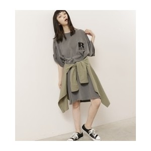 RUSSEL ATHLETIC×DOUBLE NAMEコラボビッグTEEワンピース【ダブルネーム/DOUBLE NAME ワンピース】