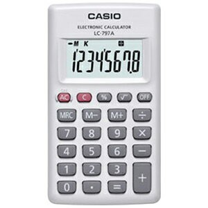 CASIO カード型電卓(8桁) LC−797A−N