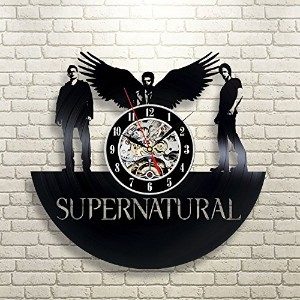 Supernatural Home Record Clock Wall Decoration Modern Vintage Art Room - Win a prize for feedback