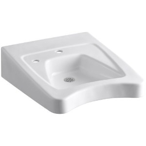 KOHLER K-12638-L-0 Morningside Wheelchair Bathroom Sink with Single-Hole Drilling and Soap...