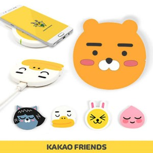 【Kakao friends】カカオフレンズワイヤレス充電パッド/Wireless charging pad/5種・韓国KAKAO FRIENDS正品