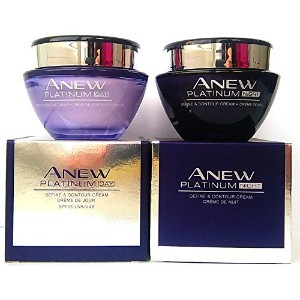 AVON Anew Platinum Define & Contour : Day Cream + Night Cream SET !
