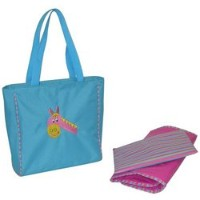 Circle of Friends Day Bag - Blue Horse by Kalencom