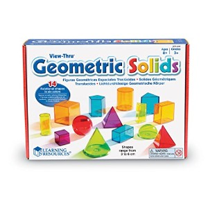 Learning Resources View-Thru Geometric Solids 【算数教材 図形玩具】透明立体図形 正規品