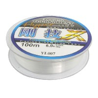 uxcell 釣り糸 糸巻き ナイロン製 クリア 直径0.40mm 28Kg 長さ100m