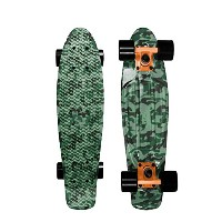Mayhem Penny Style Board Green Camouflage 22 Plastic Cruiser Board Old School Abec 7 by Mayhem...