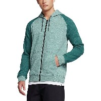 ハーレー メンズ パーカー&スウェット アウター Hurley Bayside Full-Zip Fleece Hoodie - Men's Mint Foam