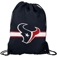 NFL チームロゴ バックパック テキサンズ Houston Texans Navy Blue Team Logo Drawstring Backpack