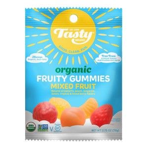 Tasty brand organic fruty snacks mixed fruit 0.8oz X 5pack set 【訳あり/商品ダメージ/賞味期限間近2018年7月28日】