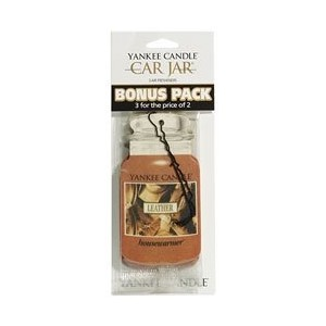 Yankee Candle Car Jar Car Air Freshener-LEATHER CAR FRESHENER (並行輸入品)