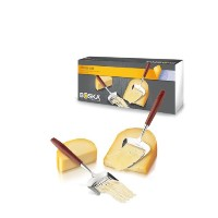 Boska Holland Tasteコレクションローズウッドハンドル2 Piece Cheese Slicer and Grater Giftbox Set