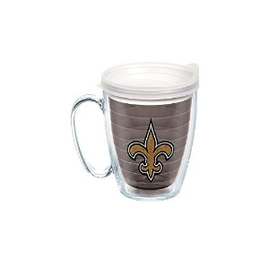 Tervis NFL新しいOrleans Saintsエンブレム個々Mug with Frosted蓋、16オンス、クォーツ
