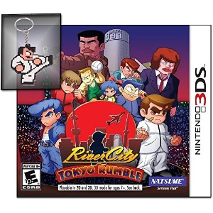 River City Tokyo Rumble with Limited Edition Kunio Keychain Nintendo 3DS リバーシティ東京ランブル限定版クノイキーキーチェーン付...