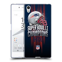 オフィシャル NFL New England Patriots 1 2017 Super Bowl Li Champion ソフトジェルケース Sony Xperia Z5 / Z5 Dual