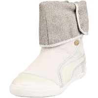 Puma Sugie Suede Womens Boots - Shoes -Silver-26.5