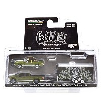 """GREENLIGHT 1:64SCALE HITCH&TOW HOLLYWOOD SERIES1 """"GAS MONKEY GARAGE"""" """"'68 SHELBY GT500KR / '15 FORD..."""