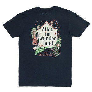【Out of Print】 Lewis Carroll / Alice im Wunderland Tee (Midnight Navy)