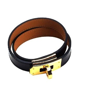 HERMES(エルメス)ブレスレットKELLYDOUBLEBK068438CCBRACELETCUIRVEAUBOXNOIR