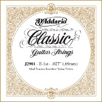 D'Addario ダダリオ J2901 Classics Rectified クラシックギター シングルストリング, Moderate Tension, First String...