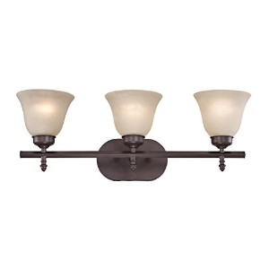 Elk Lighting 2203BB/10 Santa Fe 3 Light Bath Bar, Oil Rubbed Bronze by Cornerstone Lighting