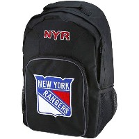 NHL チームロゴ バックパック レンジャース(ジュニア) New York Rangers Youth Black Southpaw Backpack