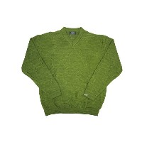COOGI SOLID COLOR V-NECK SWEATER (LODEN)クージー/V-ネックネックセーター/ライトグリーン