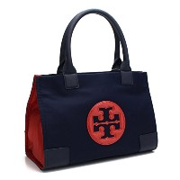 トリーバーチ TORY BURCH NYLON MINI ELLA COLOR BLOCK TOTE トートバッグ 36761 403 ROYAL NAVY/CHERRY AP ネイビー系/レッド系...