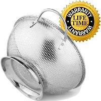 Colander Pro Stainless Steel Colander With Handles and Base, Professional Grade Large 5-Quart...