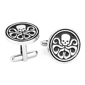スチームパンク – Skull Octopus – Men 's Cufflinks Cuff Links – Squid Octo – Superhero Avengers Hydra