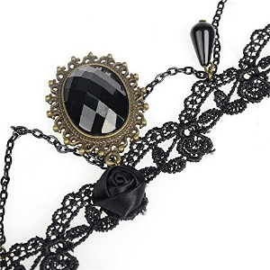 Lolita Punk Crystal Choker Necklace For Women