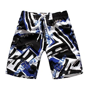 Bronze Times 海パン メンズ ビーチ 水着 通気速乾 サーフィン 花柄 英字 ゆったり Mens Cool Large Size Quick Dry Hot Summer Beach...