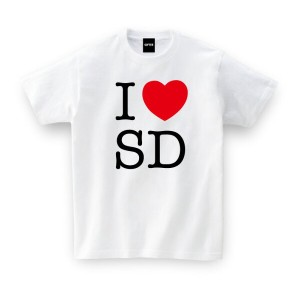 I LOVE SD TEE アイラブ仙台 おもしろtシャツ 誕生日プレゼント 女性 男性 女友達 おもしろ Tシャツ プレゼント ギフト GIFTEE