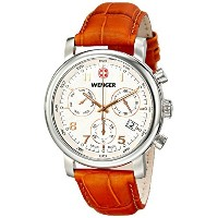 [ウェンガー]Wenger 腕時計 Urban Classic Chrono Analog Display Swiss Quartz Brown Watch 01.1043.104 メンズ ...