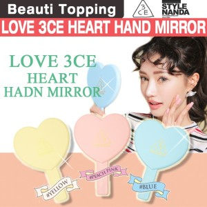 [3CE] LOVE 3CE HEART HAND MIRROR (3 Colors) [Beauti Topping]