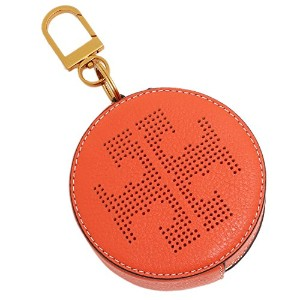 TORY BURCH キーリング トリーバーチ 36732 818 PERFORATED LOGO CIRCLE POUCH KEY FOB ポーチ SPICE ORANGE [並行輸入品]
