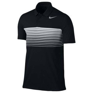ナイキ メンズ トップス ポロシャツ【Nike Golf Mobility Speed Stripe Polo】Black/Silver