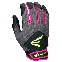 イーストン レディース 野球 グローブ【Easton HF3 Hyperskin Fastpitch Batting Gloves】Black/Grey/Pink